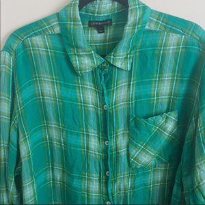 Lane Bryant plaid long sleeve shirt.